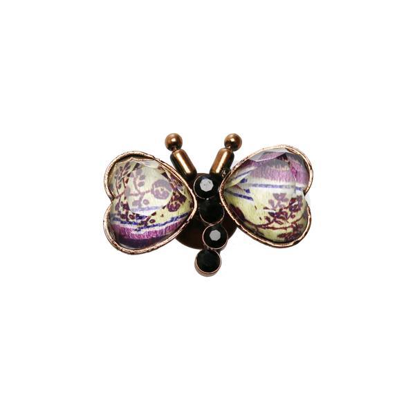 蝶のピンブローチ